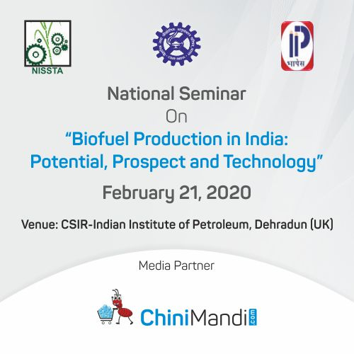 "NISSTA to organise one day National Seminar on ""Biofuel Production in India: Potential, Prospects and Technology"""
