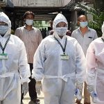 Health workers visit door to door thermal screening to detect Coronavirus outbreak, in Uttarpara area of Hooghly near Kolkata. (ANI Photo)