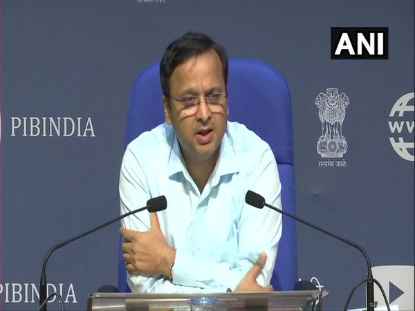 Lav Aggarwal, Joint Secretary, Health Ministry speaking at a press conference on Tuesday. Photo/ANI