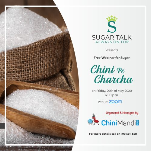 Chini Pe Charcha – Free Webinar on Sugar Industry's way forward amid Covid -19