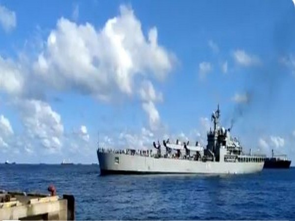 Indian Naval Ship Kesari reached Male port on Tuesday