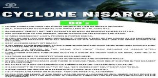 Cyclone Nisarga dos and donts